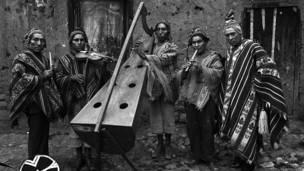 Músicos andinos, foto de Pierre Verger