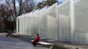 El centro de visitantes del jardín botánico de Christchurch, Nueva Zelanda.