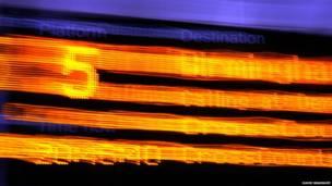 Foto abstracta de un andén en Sheffield