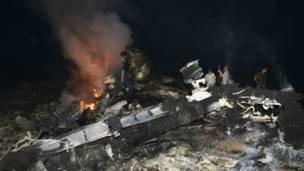 Avión estrellado en Ucrania de Malaysian Airlines