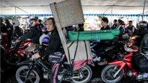 Pemudik sepeda motor