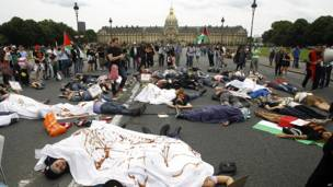 Protesta en París, Francia