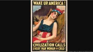Wake Up, America! Civilization Calls Every Man Woman and Child!, United States, 1917, James Montgomery Flagg (1877–1960), color lithograph, 42 × 28 in. The Huntington Library, Art Collections, and Botanical Gardens.