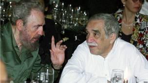 Fidel Castro y el escritor Gabriel García Márquez. Foto AFP Getty Images