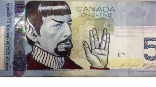 billete del señor spock