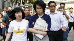 法院在上個月7月判他監禁四周,但由於刑期從6月2日還押日算起,因此當庭獲釋。