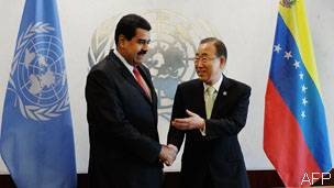 Maduro y Ban Ki Moon