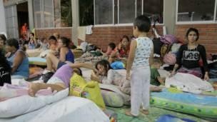 Albergue para desplazados colombianos en Cúcuta