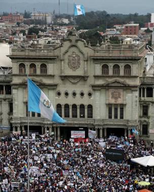 Manifestación contra Pérez Molina