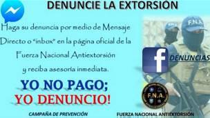 Campaña antiextorsión de la Fuerza Nacional Antiextorsión de Honduras