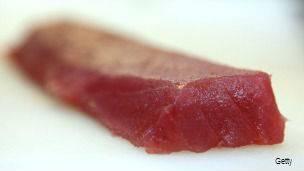 Trozo de atún en Japón