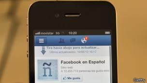Aplicacion de facebook en telefonos