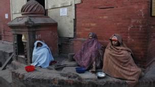 Personas pobres en la calle