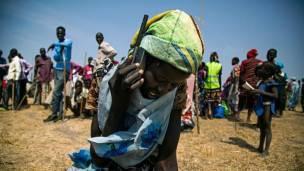Solo el 15% de la población en Sudán del Sur tiene teléfono celular.