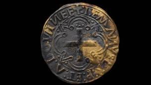 Moneda de un cruzado de oro.