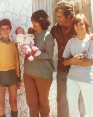 Familia de Lucia em Florianópolis; ela foi para Portugal aos 17 anos (Foto: Arquivo Pessoal)