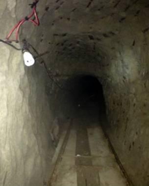 Imagen del interior del túnel