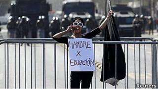 Marcha estudiantil. Archivo