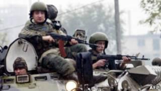 Российские федеральные войска в Чечне