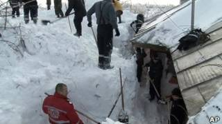 Suhu dingin di Eropa