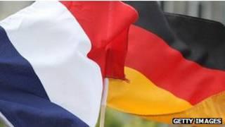 Banderas de Francia y Alemania
