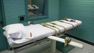 Sala de execuções de pena de morte, em foto de arquivo (AP)