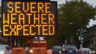 Mensaje de advertencia en Washington