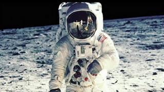 Foto de Neil Armstrong en la luna