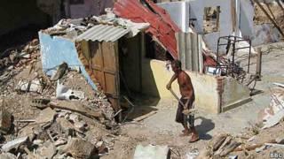 Destrozos ocasionados por Sandy en Siboney