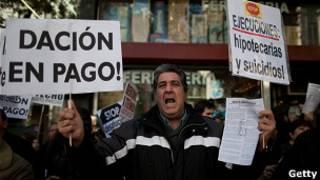Protestas en España por los deshaucios
