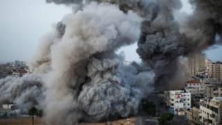 Explosión en Gaza