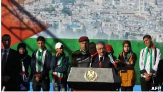 Le président des territoires autonomes palestiniens Mahmoud Abbas
