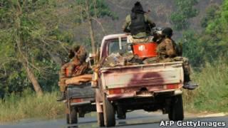 Un convoi militaire sur la route de Sebut qui a été prise par les rebeles le 29 décembre
