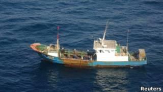 Китайское рыболовецкое судно, задержанное Японией