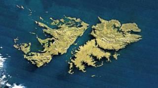 Islas Malvinas o Falklands.