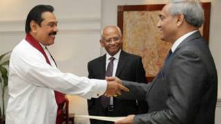 Mohan Peiris taking oaths as new CJ