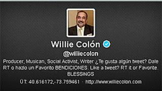 Cuenta de Twitter del músico Willie Colón