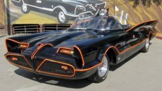 batmobile, batman and robin
