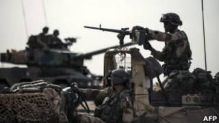 Soldados en Mali