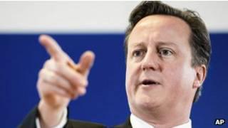 David Cameron, primer ministro de Gran Bretaña