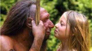 Neandertal y niña
