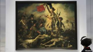 Liberty Leading the People karya Eugene Delacroix.