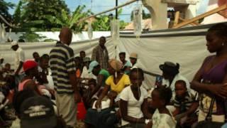 Korban kolera di Haiti