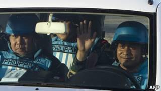 Fuerzas de paz de la ONU en Siria