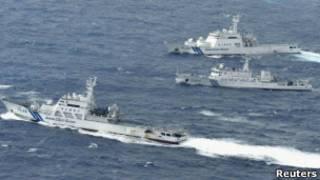 Tàu tuần tra Nhật Bản, Trung Quốc tại Senkaku