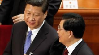 Hai ông Hồ và Tập tại kỳ họp Quốc hội