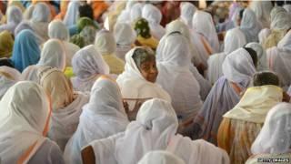 Viúvas na cidade de Vrindavan (Getty Images)