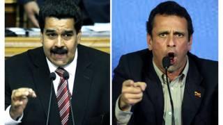Nicolás Maduro y Henrique Capriles