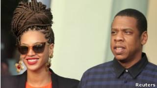 Beyoncé y su esposo el rapero Jay-Z