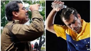 Hai ứng viên Maduro và Capriles